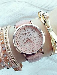 cheap -Women's Wrist Watch Wrap Bracelet Watch Quartz Quilted PU Leather Black / White / Pink Hollow Engraving Analog Ladies Fashion Elegant - White Black Pink