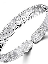 cheap -Women's Bracelet Bangles Flower Ladies Italian everyday Sterling Silver Bracelet Jewelry Silver For Daily Casual Sports