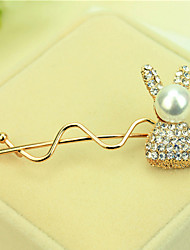 cheap -South Korea Set Auger Bowknot Hairpin Sell Like Hot Cakes Golden Rabbit Model