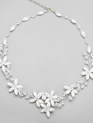 cheap -White Crystal Imitation Pearl Alloy White Necklace Jewelry For Wedding Party Birthday Engagement