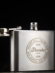 cheap -Personalized Stainless Steel Barware & Flasks / Hip Flasks Groom / Groomsman / Parents Wedding / Anniversary / Birthday