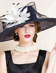 cheap -Flax Kentucky Derby Hat / Hats with 1 Wedding / Special Occasion / Tea Party Headpiece