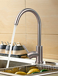 cheap -Kitchen faucet - One Hole Nickel Brushed Standard Spout / Tall / ­High Arc Deck Mounted Contemporary Kitchen Taps / Single Handle One Hole