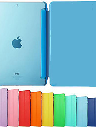 cheap -Case For iPad Air iPad Air / iPad 4/3/2 / iPad Mini 3/2/1 Solid Color / Shockproof / Flip Full Body Cases Solid Color Hard PU Leather / iPad Pro 10.5 / iPad (2017)