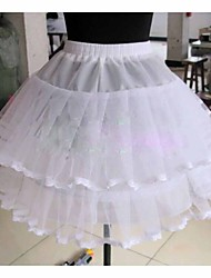 cheap -Wedding / Special Occasion / Daily Slips Tulle Knee-Length Ball Gown Slip with Lace-trimmed bottom