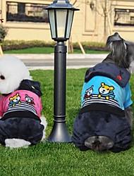 cheap -Cat / Dog Coat / Pants Dog Clothes Stripe / Cartoon Rose / Blue Polar Fleece Costume For Pets Cosplay / Wedding