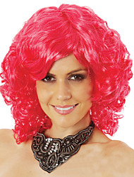 cheap -Synthetic Wig Curly Curly Asymmetrical Wig Short Creamy-white Black / Rose Red Blue Red Red Synthetic Hair 12inch Women's Cosplay Natural Hairline Red White