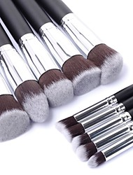 cheap -Professional Makeup Brushes Makeup Brush Set 10pcs Portable Travel Eco-friendly Professional Full Coverage Hypoallergenic Limits Bacteria Synthetic Hair / Artificial Fibre Brush Wood Makeup Brushes