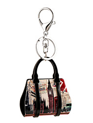 cheap -British Style Big Ben Print Acrylic Bag Shape Keychain Best Gift for Girlfriend Women Favorite