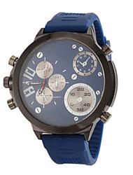 cheap -JUBAOLI Men's Military Watch Aviation Watch Quartz Silicone Black / Blue / Red Analog Black Red Blue