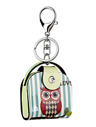 cheap -Cute Cartoon Owl Print Acrylic Bag Shape Keychain Best Gift for Girlfriend Women Favorite
