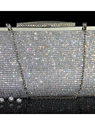 cheap -Women's Crystals PU Leather Evening Bag Wedding Bags Gold / Silver
