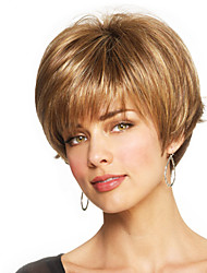 cheap -Human Hair Wig Straight Short Hairstyles 2019 Straight Capless Strawberry Blonde / Bleach Blonde Beige Blonde / Bleach Blonde Auburn Brown / Bleach Blonde