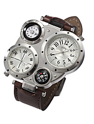 cheap -Men's Wrist Watch Analog Quartz Charm Casual Watch / Stainless Steel / Leather