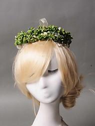 cheap -Women's / Flower Girl's Rhinestone / Tulle / Imitation Pearl Headpiece - Wedding Wreaths 1 Piece
