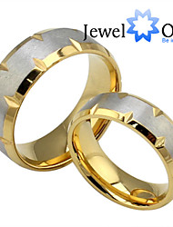 cheap -Women's Band Ring Gold Gold / White Steel Fashion Party Jewelry