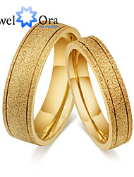 cheap -Women's Band Ring Gold Golden Steel Fashion Party Jewelry