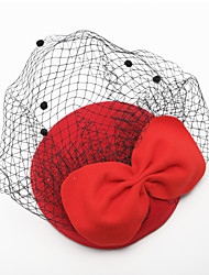 cheap -Tulle / Velvet Birdcage Veils with 1 Wedding / Special Occasion Headpiece