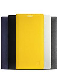 Недорогие -Кейс для Назначение OnePlus One Plus 2 Бумажник для карт / С функцией автовывода из режима сна / Флип Чехол Однотонный Твердый Кожа PU