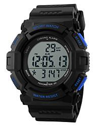 cheap -SKMEI Men's Sport Watch Wrist Watch Digital Watch Digital Rubber Black 30 m Water Resistant / Waterproof Heart Rate Monitor Alarm Digital Charm - Black Blue Two Years Battery Life / Chronograph / LCD