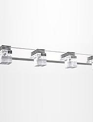 cheap -LED 4-Lights Mirror Front Vanity Lamp 62cm 12W Bathroom Lighting Stainless Steel Alumionum Crystal Wall Light IP67 Waterproof Anti-rust