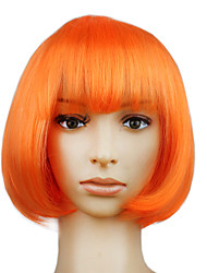 cheap -Synthetic Wig Straight Straight Bob Wig Short Synthetic Hair Women's Orange