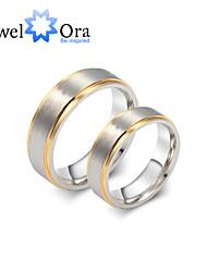 Недорогие -Жен. Кольцо Кольца Грув Светло-серый с белым титан Сталь Мода Для вечеринок Бижутерия