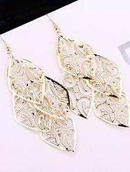 cheap -Women's Drop Earrings Statement Earrings Jewelry Black / Gold / Silver For