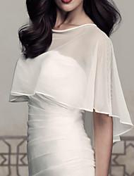 cheap -White / Ivory Brides Accessories Top Quality Handmade Bride Jacket Chiffon Shawl Bridal Jacket