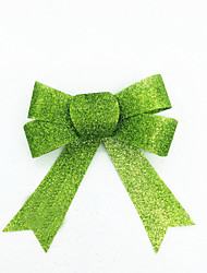 cheap -DIY Christmas Tree Decor Green Bow Gift For Christmas Party 3 PCS