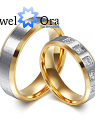 cheap -Women's Band Ring spinning ring Cubic Zirconia Gold Gold / White Cubic Zirconia Steel Fashion Party Jewelry