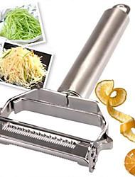 Недорогие -Нержавеющая сталь Жульен Овощечистка Овощечистка двойная строгальная кухонная утварь