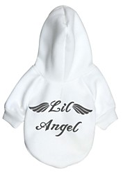 cheap -Cat Dog Hoodie Fleece Hoodie Angel & Devil Fashion Winter Dog Clothes White Red Costume Cotton XS S M L