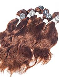 Недорогие -Бразильские волосы Естественные волны 8A Человека ткет Волосы Ткет человеческих волос Расширения человеческих волос