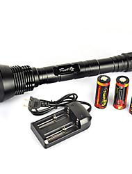 Недорогие -5 Светодиодные фонари Тактический Водонепроницаемый 13000 lm Светодиодная лампа LED излучатели 5 Режим освещения / Перезаряжаемый / Алюминиевый сплав