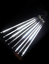 cheap -Falling Rain Lights Meteor Shower Lights Christmas Lights 30cm 8 Tube 144 LEDs Falling Rain Drop Icicle String Lights for Christmas Trees Halloween Decoration Holiday Wedding