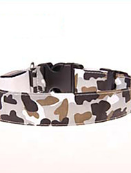 cheap -Cat Dog Collar LED Lights Nylon Camouflage Color