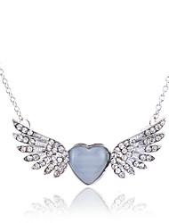cheap -Women's Crystal Pendant Necklace Statement Necklace Wings guardian angel Luxury Fashion Crystal Opal Imitation Diamond Silver Golden Necklace Jewelry For Party Daily Casual