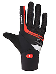 cheap -SANTIC Winter Bike Gloves / Cycling Gloves Mountain Bike MTB Thermal / Warm Windproof Breathable Anti-Slip Sports Gloves Terry Cloth Black for Adults' Outdoor