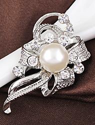 cheap -Women's Brooches Stylish Fashion Crystal Brooch Jewelry Silver Lavender For Wedding Party Dailywear