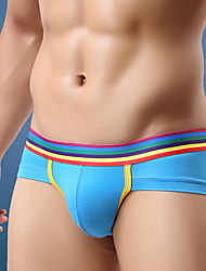 cheap -Men's Super Sexy Briefs Underwear Color Block 1 Piece Black Light Blue White M L XL