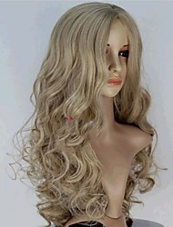 cheap -Synthetic Wig Snow White Cinderella Body Wave Wavy Monofilament L Part Wig Blonde Long Blonde Synthetic Hair 20 inch Women's Middle Part Blonde
