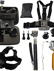 cheap -Telescopic Pole Chest Harness Front Mounting Waterproof Floating For Action Camera Gopro 6 All Gopro Gopro 5 Gopro 4 Gopro 4 Session Diving Surfing Ski / Snowboard Plastic Fiber Carbon / Gopro 3+