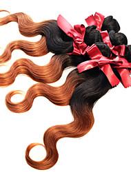 cheap -Brazilian Hair Body Wave 8A Ombre Hair Weaves / Hair Bulk Human Hair Weaves Human Hair Extensions