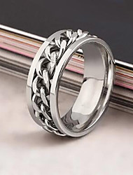 cheap -Men's Statement Ring spinning ring Black Silver Golden Stainless Steel Alloy Ladies European Fashion Daily Casual Jewelry