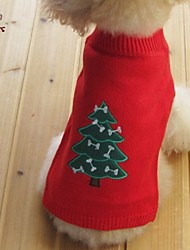"cheap -Cat Dog Coat Sweater Christmas New Year's Outdoor Winter Dog Clothes Black Red Orange Costume Mixed Material 16"" 10"" 12"" 14"""