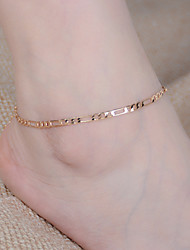 cheap -Women's Barefoot Sandals Infinity Ladies Fashion Anklet Jewelry Gold / Silver For Party Daily Casual Sports