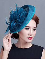 cheap -Wedding Party Sinamay Feather Fascinators Hats Church hat