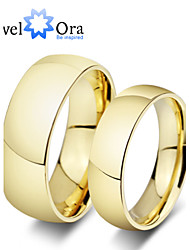 cheap -Women's Band Ring Gold Golden Gold Plated Steel Fashion Party Jewelry