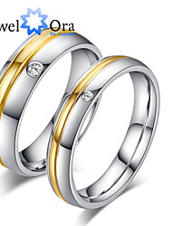 cheap -Women's Band Ring spinning ring Groove Rings Gold Gold / White Steel Fashion Party Jewelry